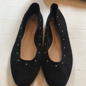 Gap Suede Ballet Flat With Silver studs - sz 10